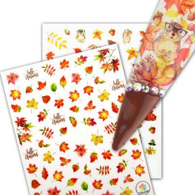 Herbst / Halloween Stick On Nail Slides