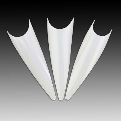 Stiletto Tips - milchig weiß