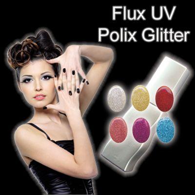 UV/LED Gel Polish - Flux UV Polix Glitter - 10ml