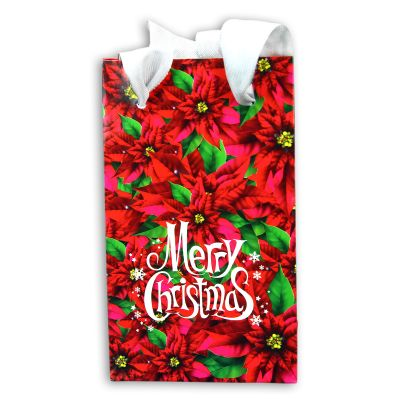 XMAS Geschenktütchen aus glänzend kaschiertem Papier - rot